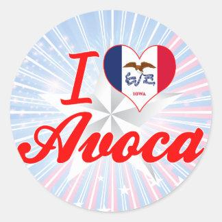 I Love Avoca, Iowa Stickers