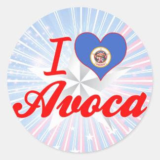 I Love Avoca, Minnesota Stickers