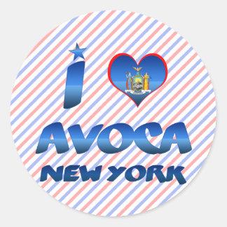 I love Avoca, New York Sticker