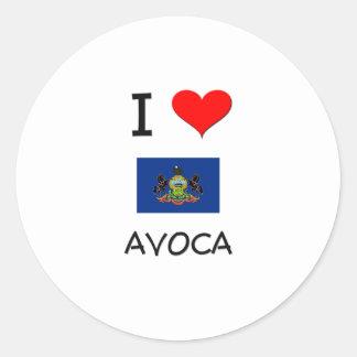 I Love Avoca Pennsylvania Sticker