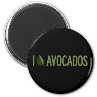 I Love Avocados 2 Inch Round Magnet