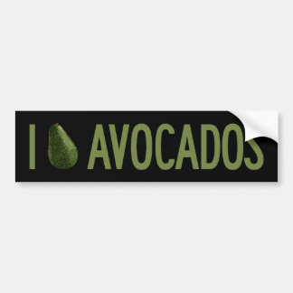 I Love Avocados Bumper Sticker