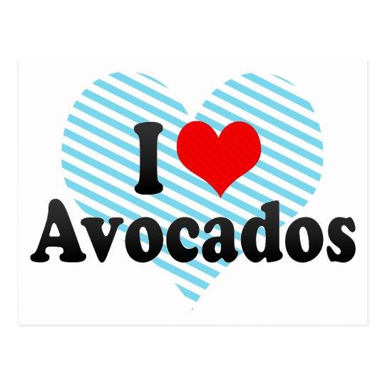 I Love Avocados Postcard
