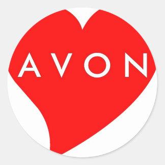 I Love AVON Classic Round Sticker