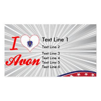 I Love Avon, Massachusetts Business Card Template