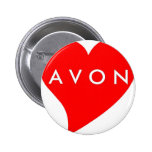 I Love AVON Pinback Button