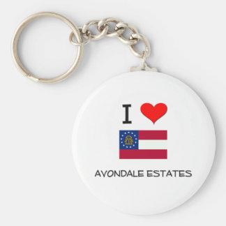 I Love AVONDALE ESTATES Georgia Keychain