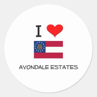 I Love AVONDALE ESTATES Georgia Sticker