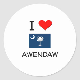 I Love Awendaw South Carolina Round Stickers
