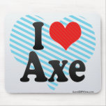 I Love Axe Mouse Pad