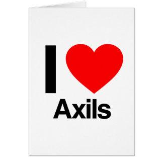 i love axils greeting card