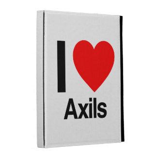 i love axils iPad folio case