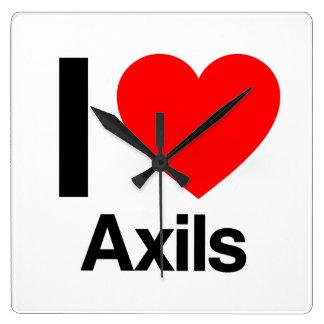 i love axils square wall clock