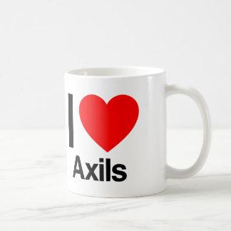i love axils classic white coffee mug