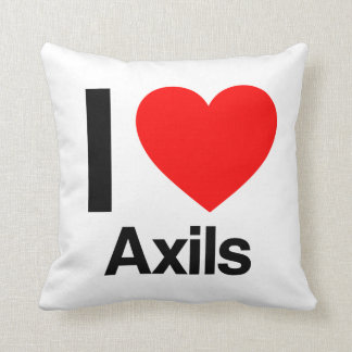 i love axils throw pillow