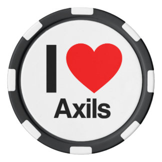 i love axils poker chips set