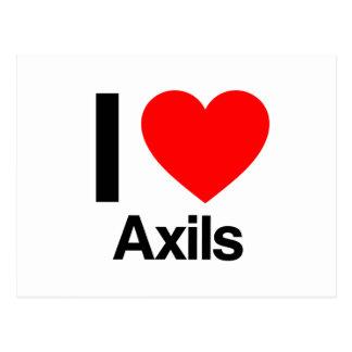 i love axils postcard