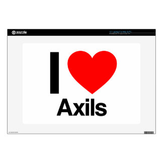 i love axils laptop decals