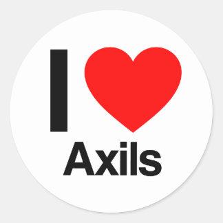 i love axils classic round sticker