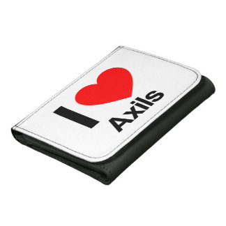 i love axils leather trifold wallet