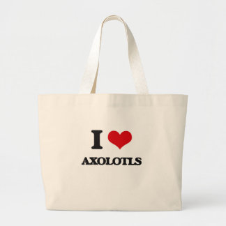 I love Axolotls Canvas Bags
