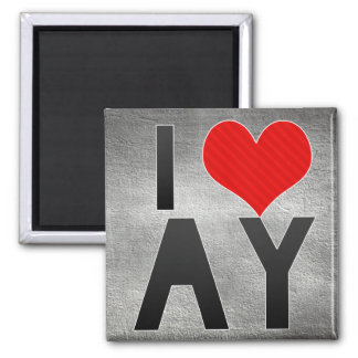 I Love AY 2 Inch Square Magnet