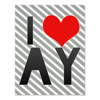 I Love AY 4.25x5.5 Paper Invitation Card