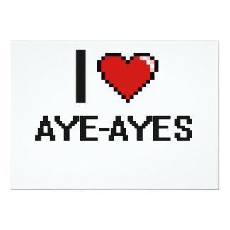 I love Aye-Ayes Digital Design 5x7 Paper Invitation Card
