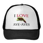 I Love Aye-Ayes Mesh Hat