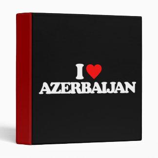 I LOVE AZERBAIJAN VINYL BINDER