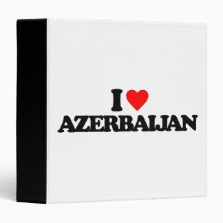 I LOVE AZERBAIJAN 3 RING BINDER