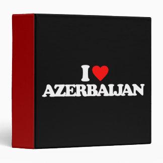 I LOVE AZERBAIJAN VINYL BINDERS