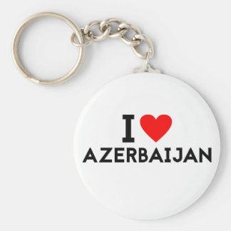 i love Azerbaijan country nation heart symbol text Keychain