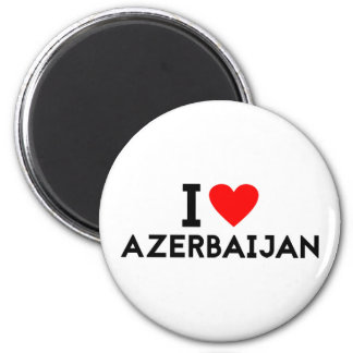i love Azerbaijan country nation heart symbol text Magnet