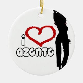 i love Azonto Ceramic Ornament