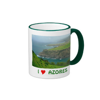 I Love Azores Ringer Coffee Mug