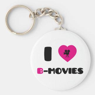 I Love B-Movies Keychain