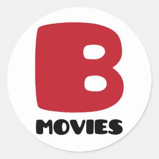 I Love B-Movies Classic Round Sticker