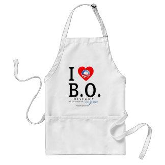 I Love B O Adult Apron