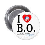 I Love B O Pinback Buttons