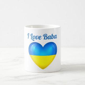 I Love Baba Ukraine Flag Heart Mug