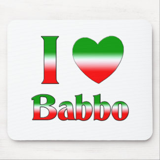 I Love Babbo Mouse Pad
