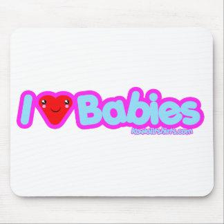 I love Babies cute Kawaii heart t-shirts Mouse Pad