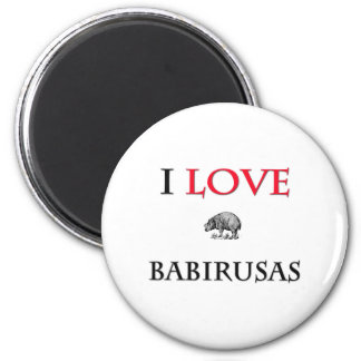 I Love Babirusas Refrigerator Magnets