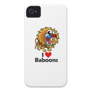 I Love Baboons Case-Mate iPhone 4 Cases