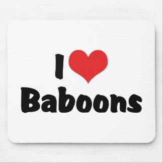 I Love Baboons Mousepad
