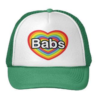 I love Babs, rainbow heart Trucker Hat