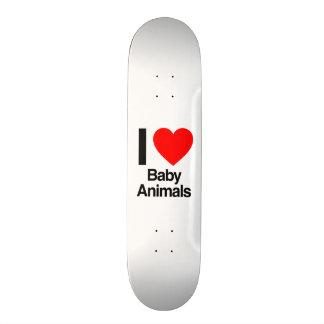 i love baby animals custom skateboard
