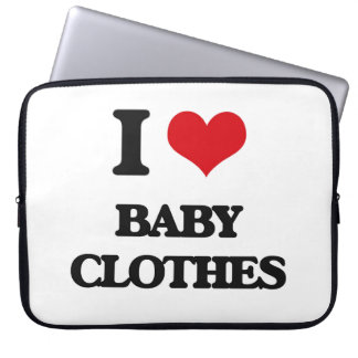 I Love Baby Clothes Laptop Sleeves