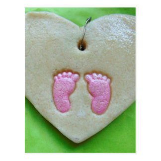 I love baby feet postcard